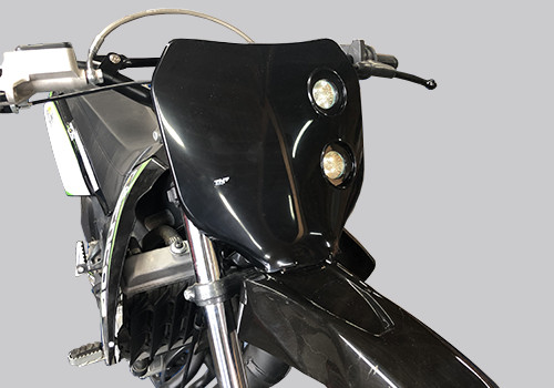 plaque phare cross halogène moto 50 noire