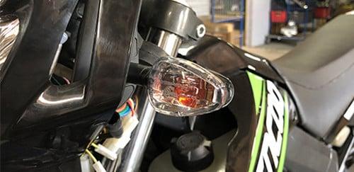 moto lampeggiante a led 50cc SX Nero