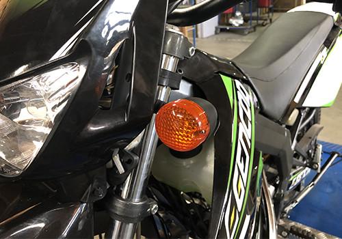 motorcycle orange flashes 50cc