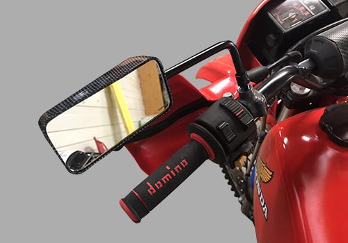 Retro F1 carbono 10mm motocicleta, scooter y ciclo