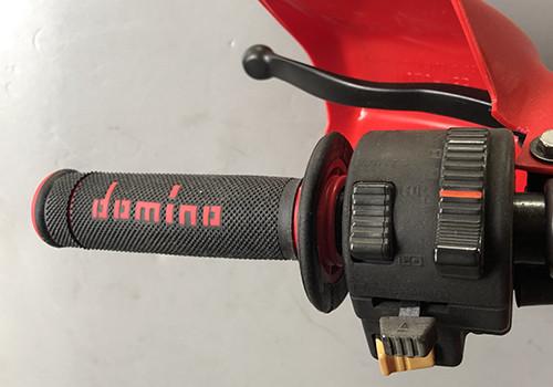 maniglia Domino A020 rosso e nero