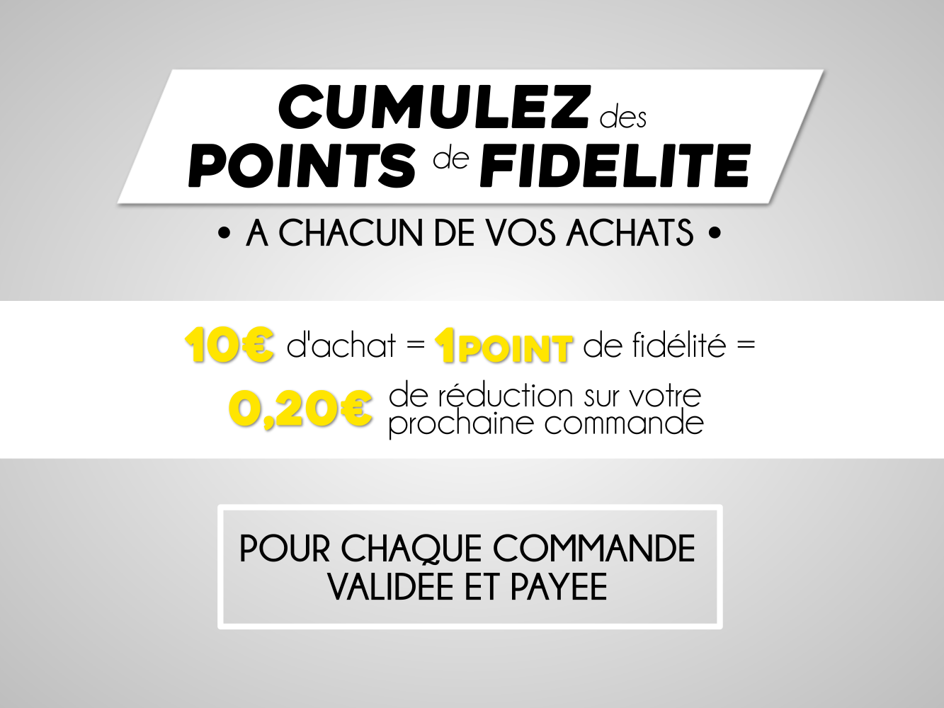 points de fidélité 50factory