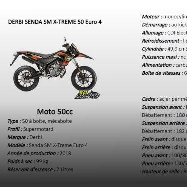 50cc technical sheets