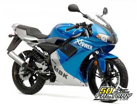 Moto 50cc MBK X-Power depuis 2003