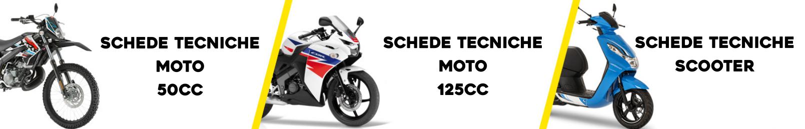 le schede tecniche moto e scooter