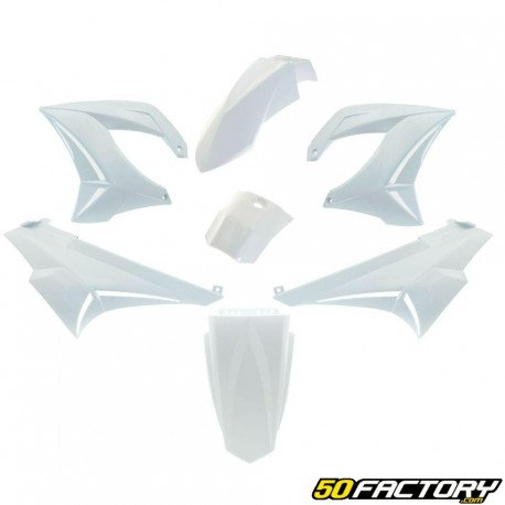 Kit de carenado blanco v5 Derbi Senda,  Gilera Smt, Rcr
