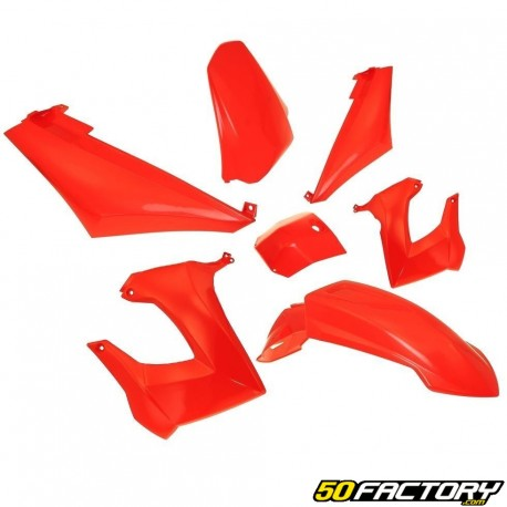 Kit carenados rojos Derbi Senda,  Gilera Smt, Rcr