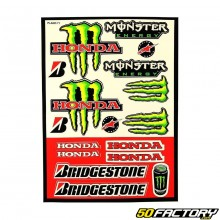 Placa adhesiva de Honda Monster