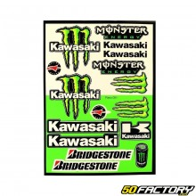 Kawasaki Monster set of stickers