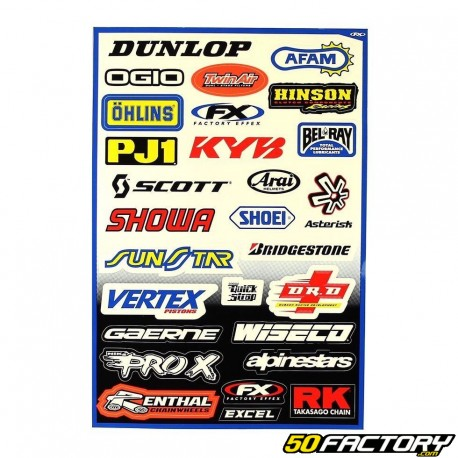 V1 MX set of stickers