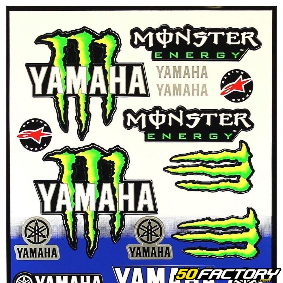 Yamaha monster set of stickers