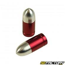 Valve caps Gun red (the pair)