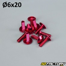Pack 10 vis 6x20mm tuning rouge