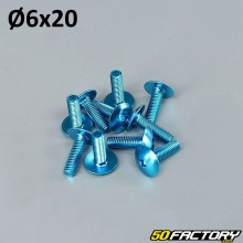 Pack 10 vis 6x20mm tuning bleu