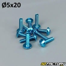 Pack 10 vis 5x20mm tuning bleu