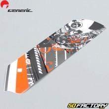 L'adesivo protegge la forcella destra grigio e arancione v2 Generic Trigger  50