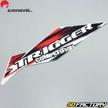 Pegatina delantera derecha roja y negra Generic Trigger  50