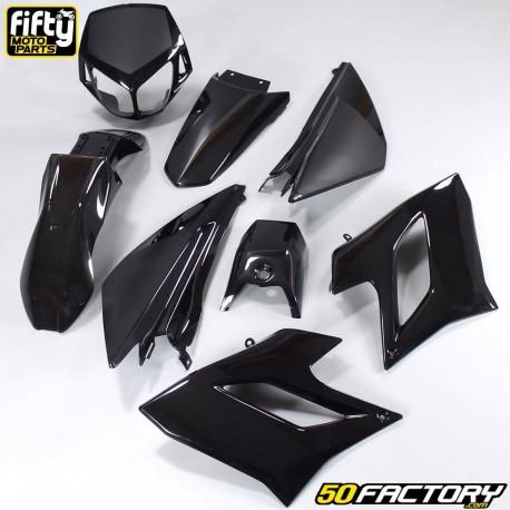 Kit de carenado FACTORY negro Derbi Senda DRD Racing