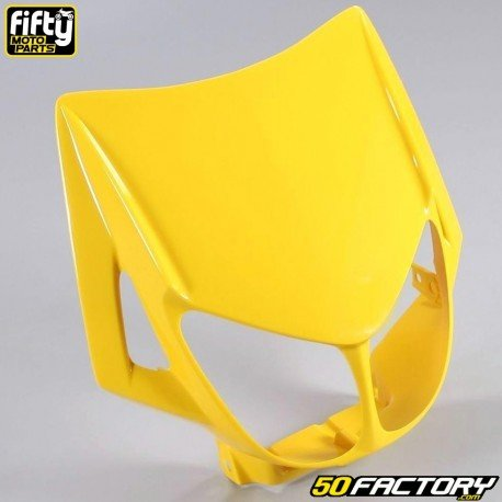 Careta frontal FACTORY amarillo Derbi Senda,  Gilera Smt, Rcr