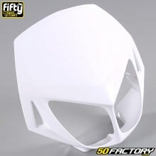 Careta tapa frontal FACTORY color blanco Derbi Senda DRD Racing