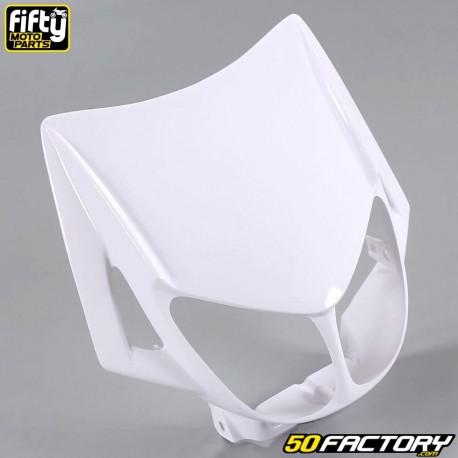Careta frontal FACTORY color blanco Derbi Senda,  Gilera Smt, Rcr