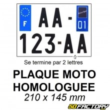 Motorcycle License Plate 2017 Approved 21x13cm