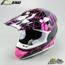 Casque cross NoEnd Origami rose taille XXL