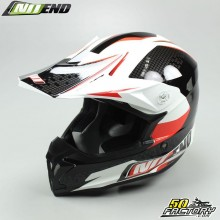 Casque cross NoEnd Defcon rouge taille XXL
