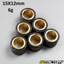 Rodillos de variador 6g 15x12 mm Aprilia, Benelli, Cpi, Mbk /Yamaha...