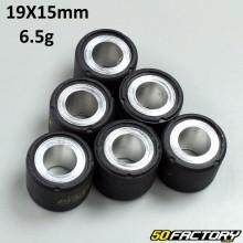 Variator rollers 6,5g 19x15 mm Aprilia,  Derbi,  Gilera, Italjet, Malaguti,  Peugeot,  Piaggio  et  Vespa
