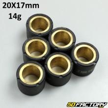 Variomatikrolle  14g 20x17mm Gilera, Mbk /Yamaha,  Peugeot,  Piaggio,  Vespa ...