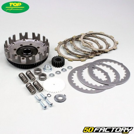 Kit cloche et disques d'embrayage racing AM6 Minarelli (dents droites)