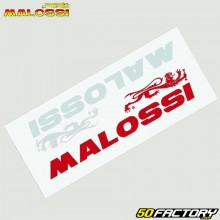 Stickers Malossi 130x30mm white and red