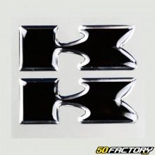 Pegatinas con adhesivo negro de Kawasaki (x2)