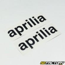 adesivi Aprilia 19cm nero (x2)