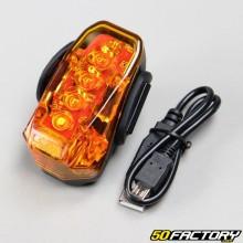 Mini feu à faisceaux lasers multifonctions sur batterie