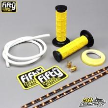 Pack accessoires couleur jaune et blanc FIFTY