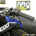 Maître cylindre et poignée embrayage universels moto bleu (kit)