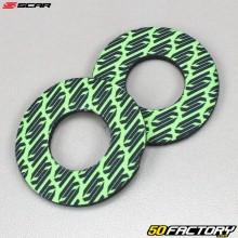 Handlebar grip donuts Scar green