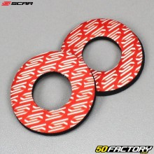 Handlebar grip donuts Scar red