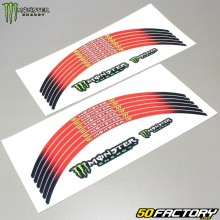 Monster energy red stripes for 17 and 18 rims
