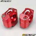 Manubrio rosso manubrio in alluminio 28mm su base 22mm