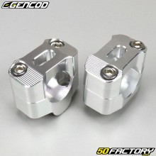 Manillar de aluminio gris manillar 28mm en base 22mm