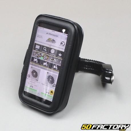 Funda con smartphone y soporte GPS.