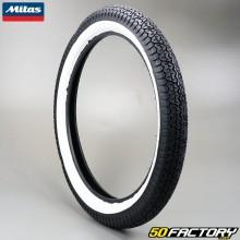 Tire 2 3 / 4-17 Mitas B7 fianchi bianco motorini