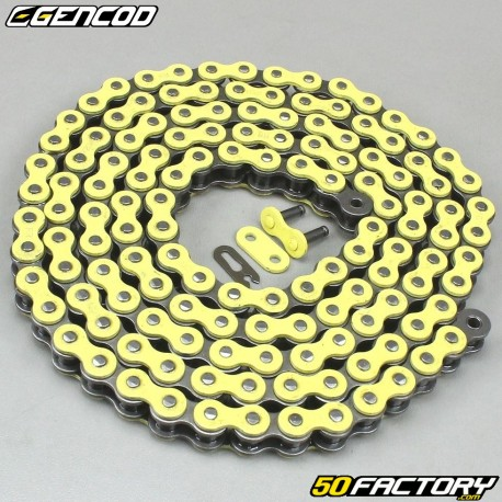 Chaîne jaune renforcée 420 H 138 maillons Gencod