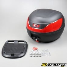 Top case 32L noir moto et scooter universel (réflecteur rouge)