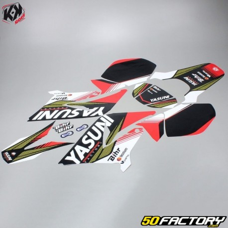 Kit Déco Kutvek Yasuni Yamaha DT50 et MBK X,Limit (depuis 2003) rouge et  noir