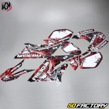 Kutvek Deco Kit Freegun Firecabeça Yamaha DT50 e MBK X-Limit (de 2003) vermelho