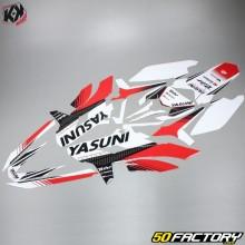 Kit Déco Kutvek Yasuni Sherco SE-R, SM-R (depuis 2017) rouge et blanc